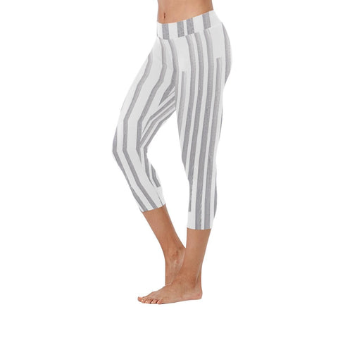 Linear Maze Low Rise Capri Leggings - dianadu-designs