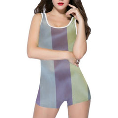 Linen Stripes Women's One Piece Romper