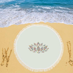 Lotus Flower Circular Beach Shawl - dianadu-designs