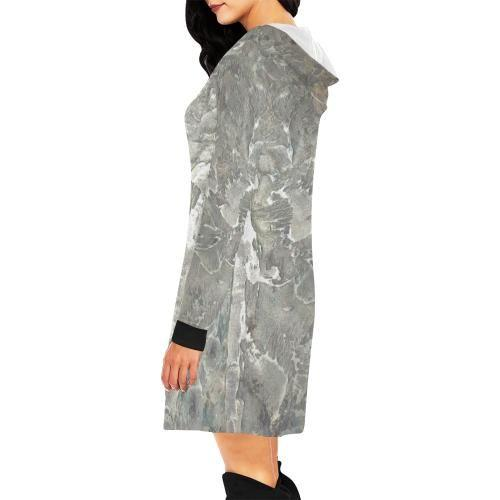 Marbled Muse Women's Hoodie Mini Dress - dianadu-designs