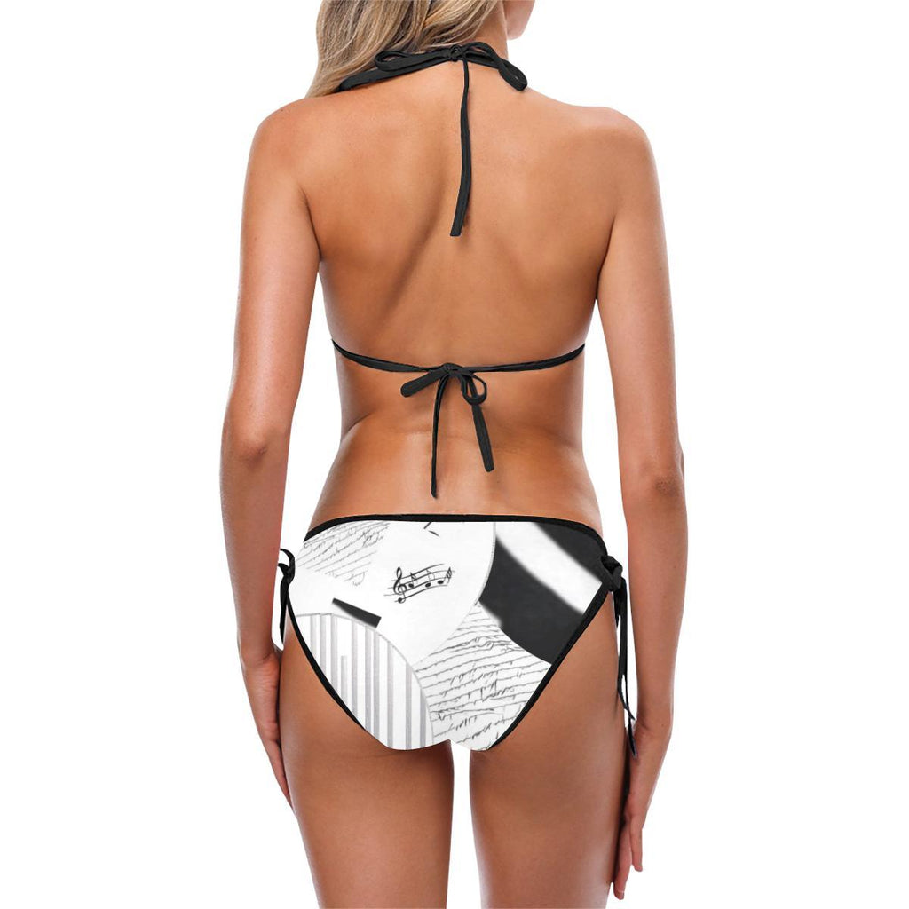 Montage in Black and White Custom Bikini - dianadu-designs