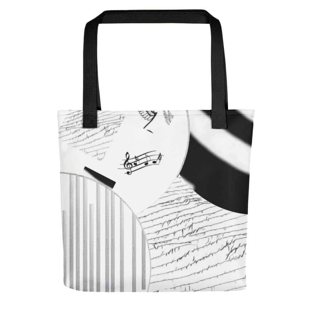 Montage in Black and White Tote Bag - dianadu-designs