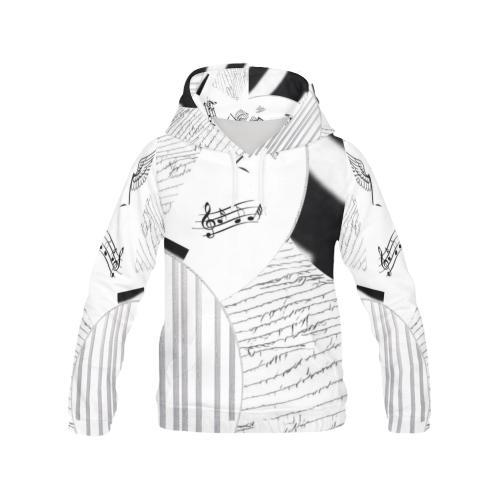 Montage in Black and White Women's Hoodie - dianadu-designs