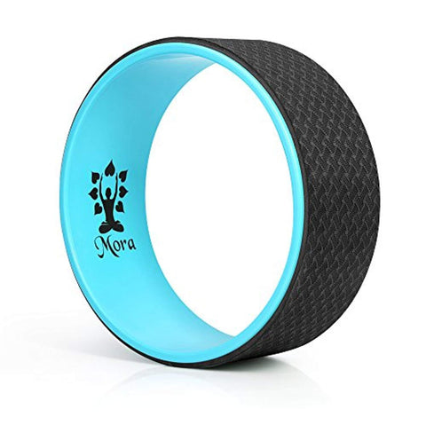MORA Premium Yoga Wheel: Strong, Comfortable, Skid-Resistant, Thick Foam Dharma Yoga Prop for Stretching and Strengthening with Strap and Pose Guide - dianadu-designs