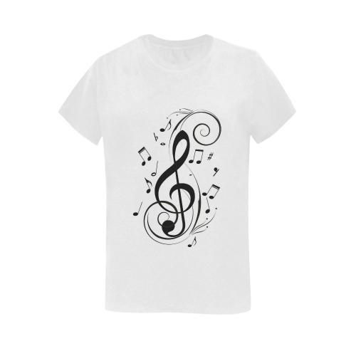 Music Symbols - Women's Short Sleeve T-Shirt - dianadu-designs
