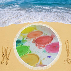 Paint by Number Circular Beach Shawl - dianadu-designs