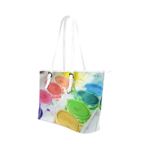 Paint by Number Leather Tote Bag - dianadu-designs