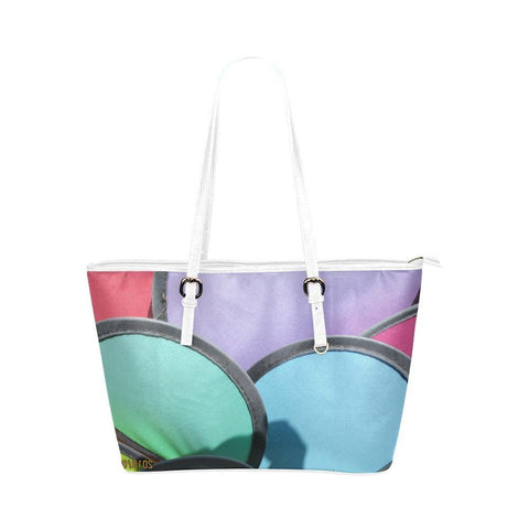 Pinwheels Leather Tote Bag - dianadu-designs