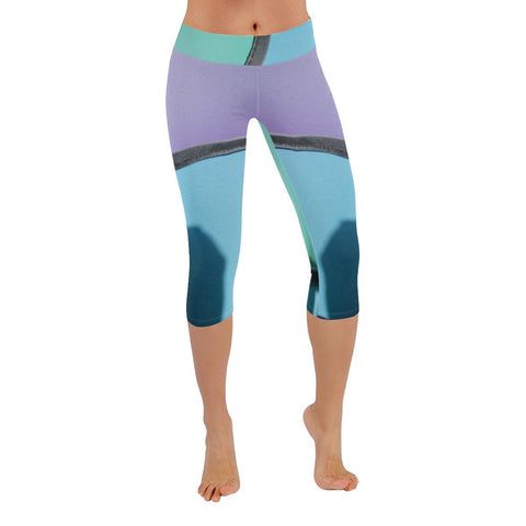 Pinwheels Low Rise Capri Leggings - dianadu-designs