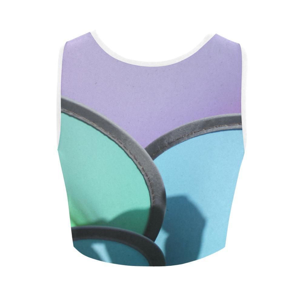 Pinwheels Women's Fitted Crop Top - dianadu-designs