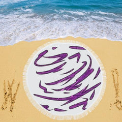 Purple Tornado Circular Beach Shawl - dianadu-designs
