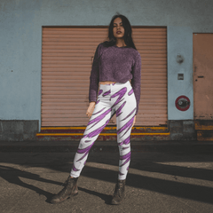 Purple Tornado High-Waist Leggings