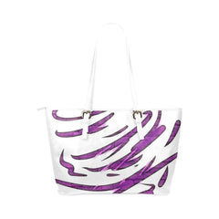 Purple Tornado Leather Tote Bag