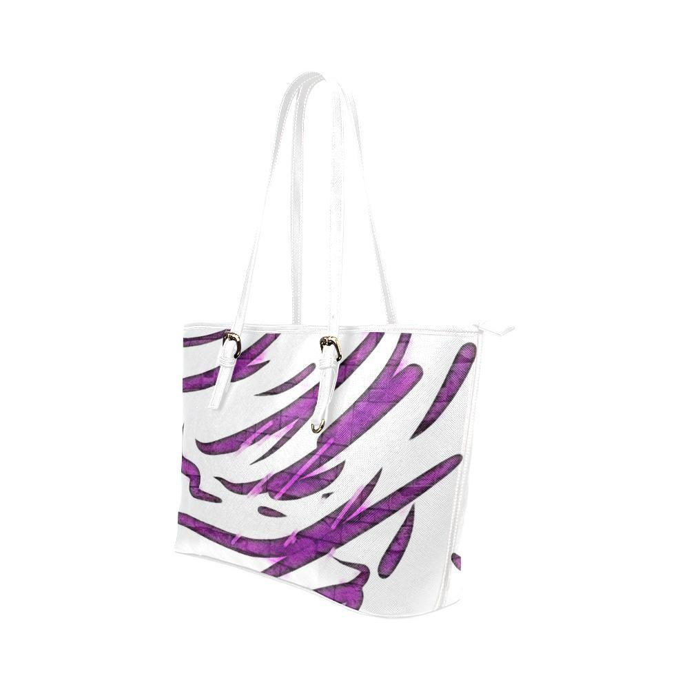 Purple Tornado Leather Tote Bag - dianadu-designs