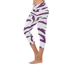 Purple Tornado Low Rise Capri Leggings