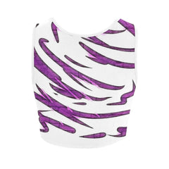 Purple Tornado Women's Fitted Crop Top