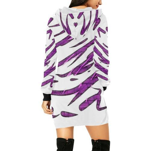 Purple Tornado Women's Hoodie Mini Dress - dianadu-designs