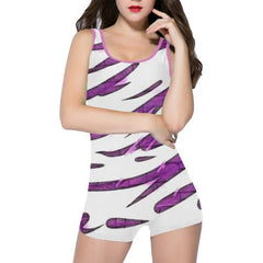 Purple Tornado Women's One Piece Romper