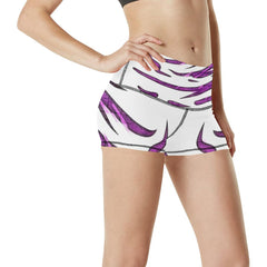 Purple Tornado Women's Yoga Shorts