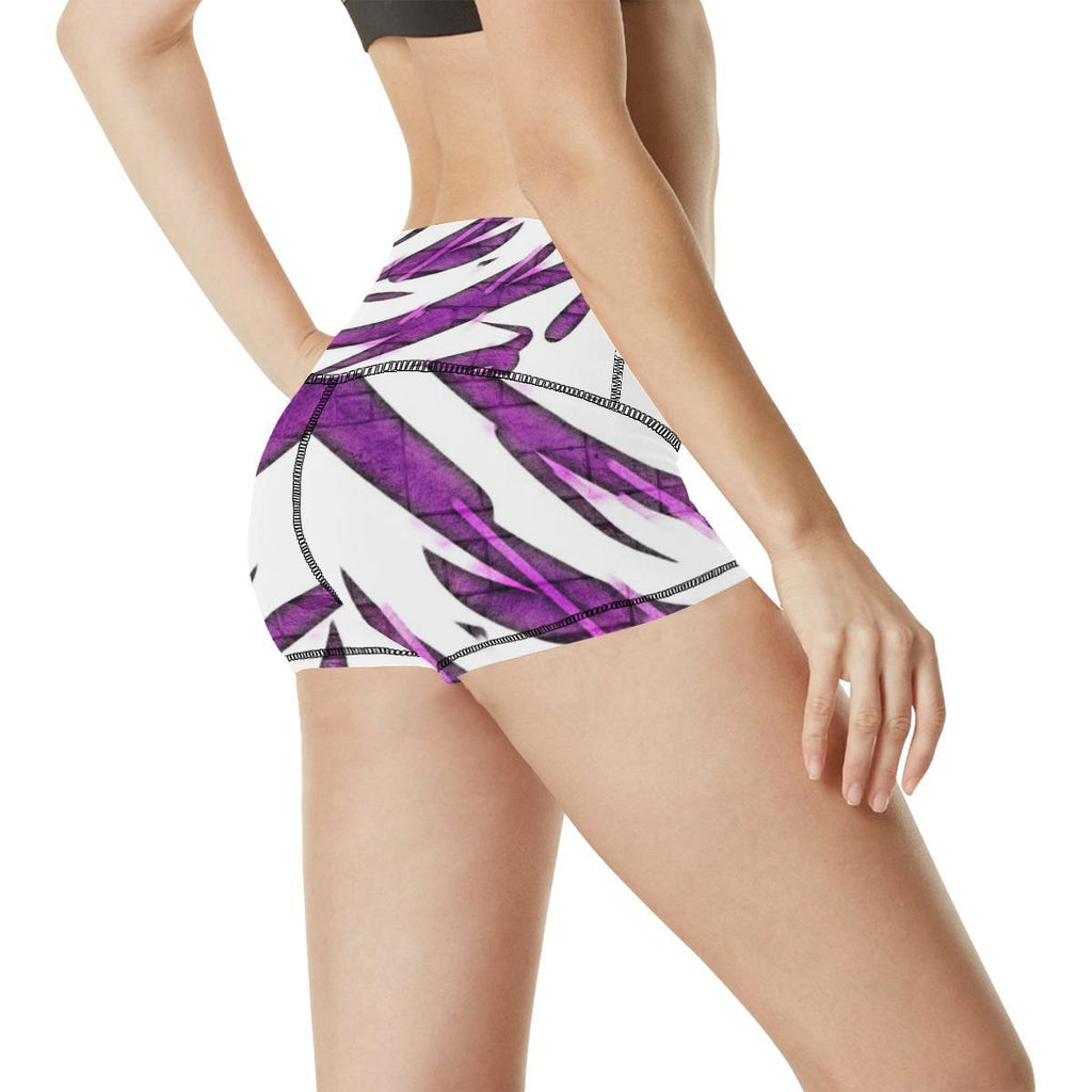 Purple Tornado Women's Yoga Shorts - dianadu-designs