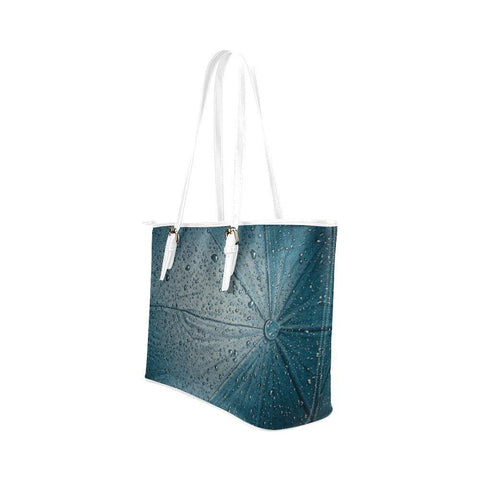 Rain Leather Tote Bag - dianadu-designs