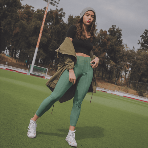Simply Green High-Waist Leggings - dianadu-designs