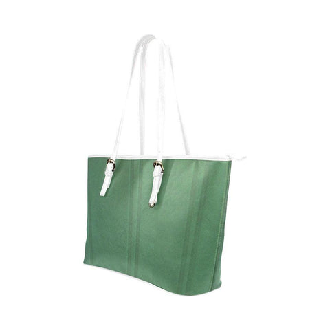 Simply Green Leather Tote Bag - dianadu-designs
