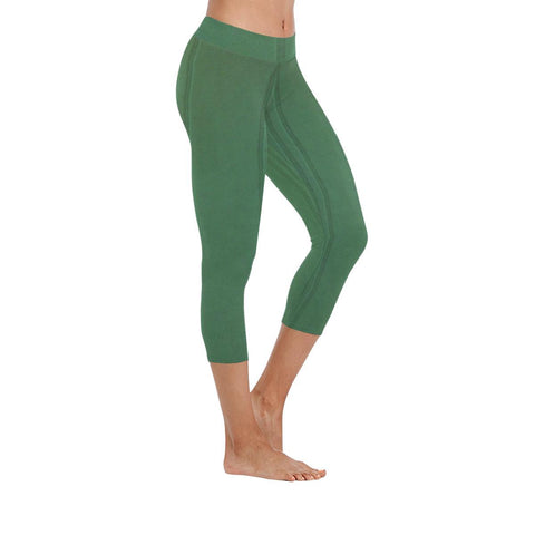 Simply Green Low Rise Capri Leggings - dianadu-designs