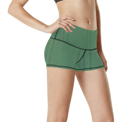 Simply Green Women's Yoga Shorts