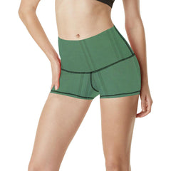 Simply Green Women's Yoga Shorts - dianadu-designs