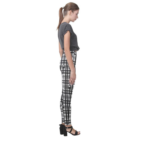 Skulls in Plaid Women's High-Waist Leggings - dianadu-designs