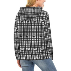 Skulls in Plaid Women's Hoodie