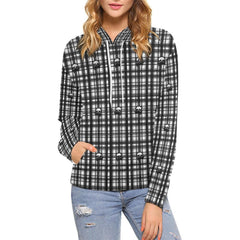 Skulls in Plaid Women's Hoodie - dianadu-designs