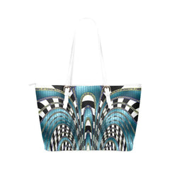 Snake and Zebra Leather Tote Bag