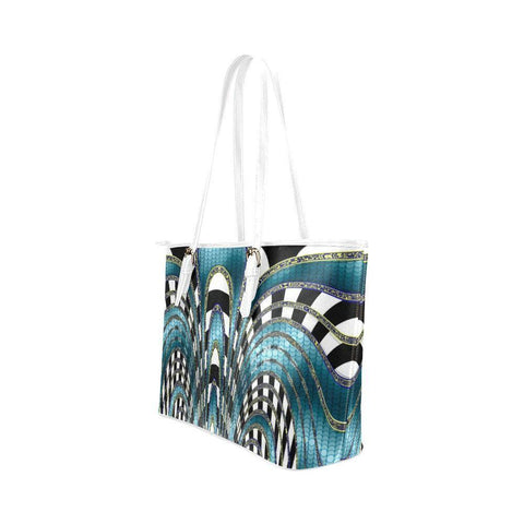 Snake and Zebra Leather Tote Bag - dianadu-designs