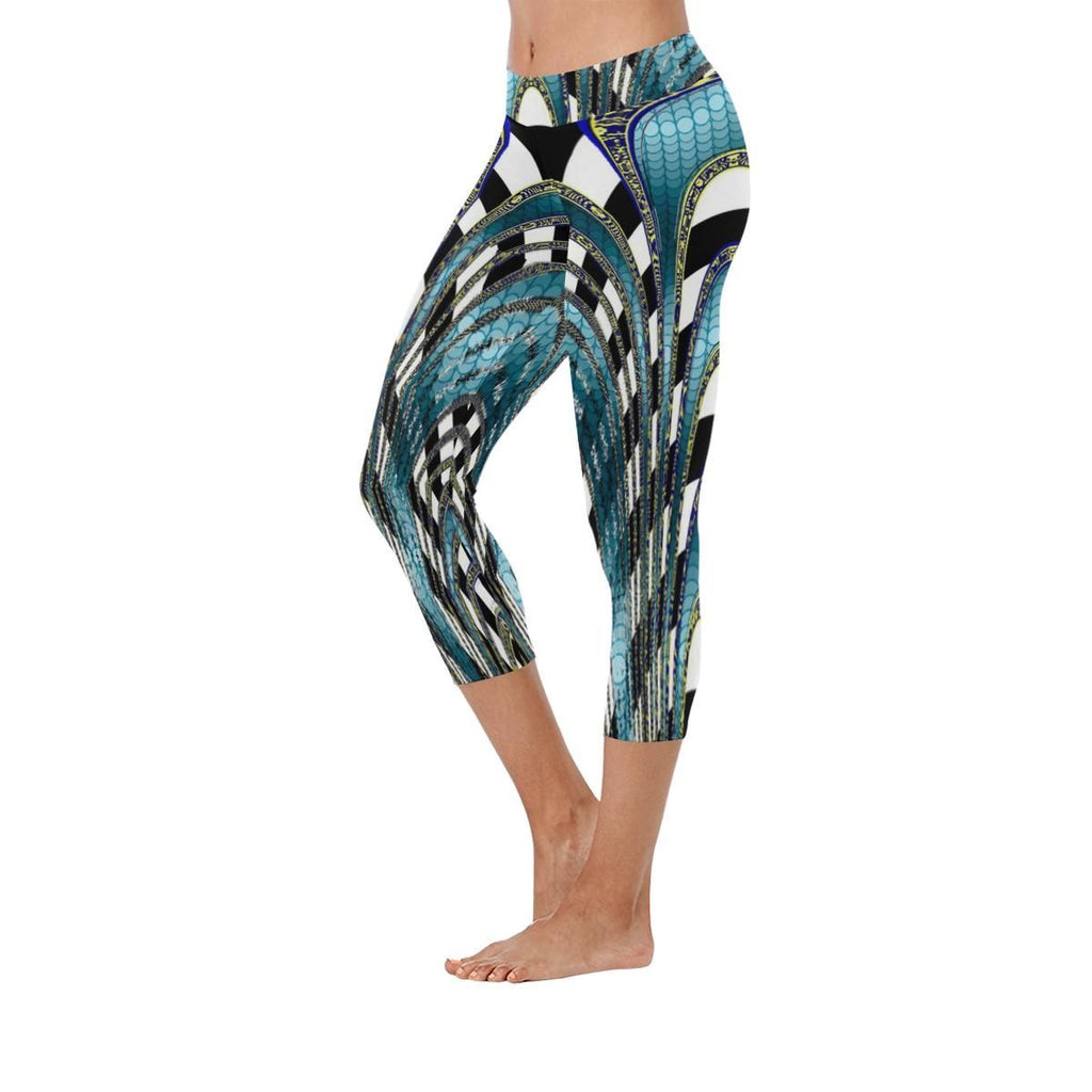 Snake and Zebra Low Rise Capri Leggings - dianadu-designs