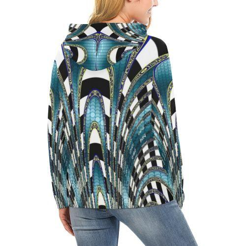 Snake and Zebra Women's Hoodie - dianadu-designs