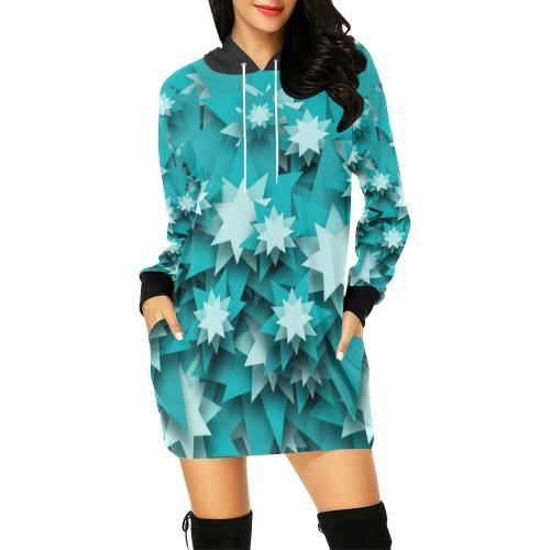 Star Candy Women's Hoodie Mini Dress - dianadu-designs