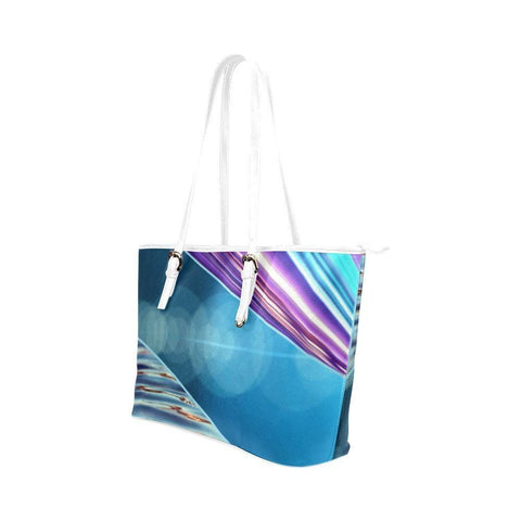 Tequila Sunrise Leather Tote Bag - dianadu-designs