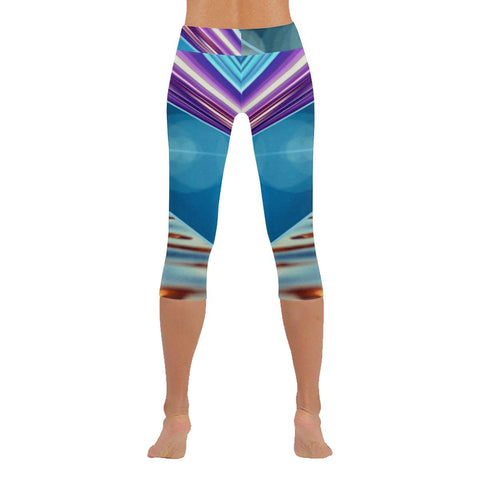 Tequila Sunrise Low Rise Capri Leggings - dianadu-designs