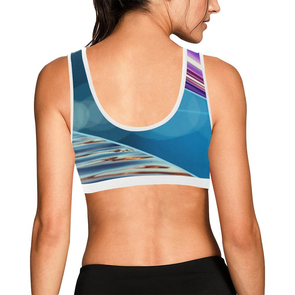 Tequila Sunrise Women's Sports Bra - dianadu-designs