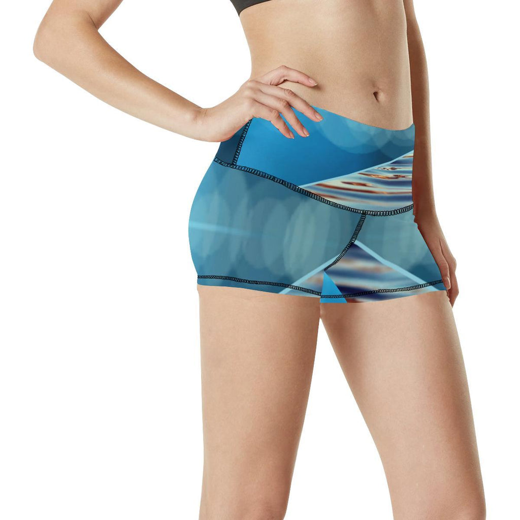 Tequila Sunrise Women's Yoga Shorts - dianadu-designs