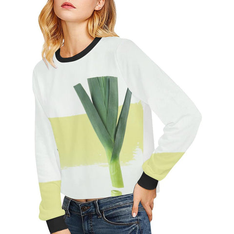The Onion Women's Cropped Pullover Sweatshirt - dianadu-designs