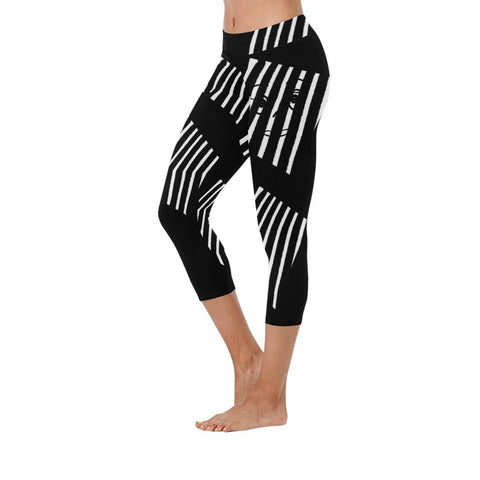 The Prisoner Low Rise Capri Leggings - dianadu-designs
