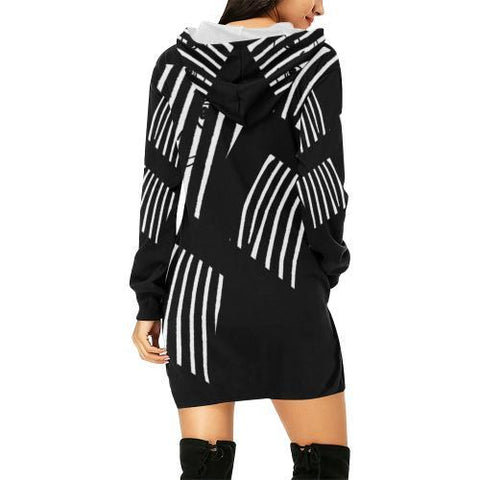 The Prisoner Women's Hoodie Mini Dress - dianadu-designs