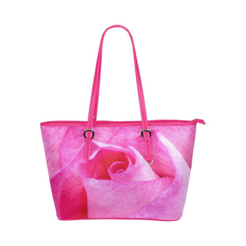 The Rose Leather Tote Bag - dianadu-designs