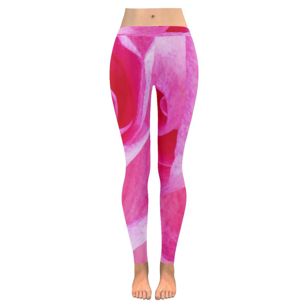 The Rose Women's Low Rise Leggings - dianadu-designs