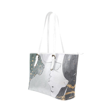 Trash Talk Leather Tote Bag - dianadu-designs