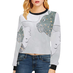 Trash Talk Women's Cropped Pullover Sweatshirt - dianadu-designs