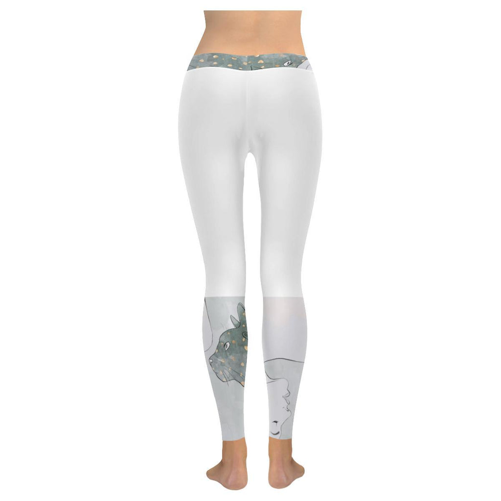 Trash Talk Women's Low Rise Leggings - dianadu-designs